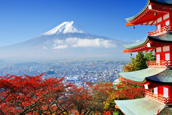 Nhật Bản được biết đến là đất nước mặt trời mọc hay đất nước của hoa anh đào