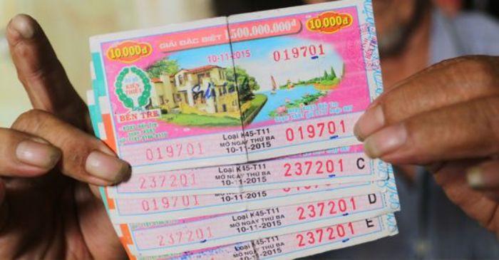 Tấm vé số phải còn nguyên vẹn, đầy đủ thông tin, vé không bị rách hoặc nhàu nát